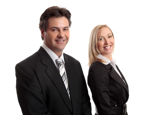 male and female lawyer
